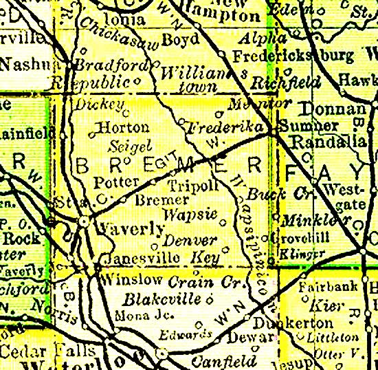 Bremer County Iowas Lost Towns - Counties in iowa